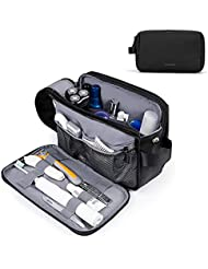 Toiletry Bag for Men, BAGSMART Travel Toiletry Organizer Dopp Kit Water-resistant Shaving Bag for Toiletries Accessories, Black