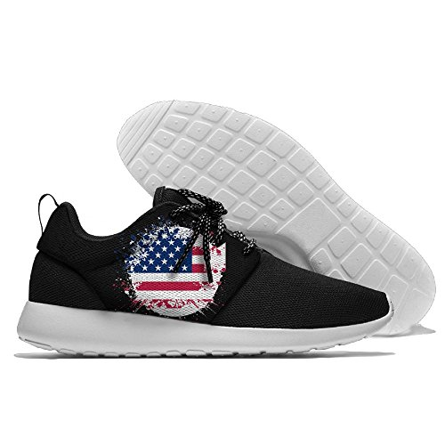 Paint Us Flag Leisure Sports Shoes Running Shoes Athletic Sneakers Black 9EF6axp