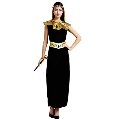 LFOZ Disfraz de Cosplay de Halloween, Vestido Maxi Negro Reina ...