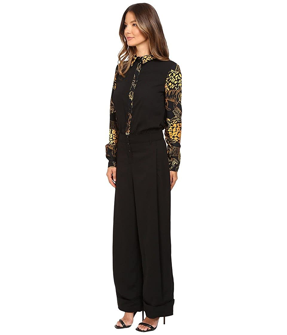 bc5aab756b8d Versace Jeans Women s Long Sleeve Jumpsuit Nero 46  Amazon.ca  Clothing    Accessories
