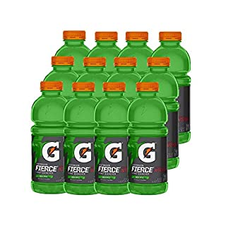 Gatorade Fierce, Green Apple, 20 Ounce Bottles (Pack of 12)