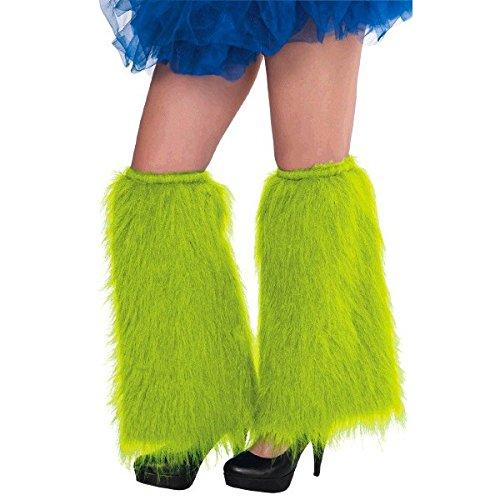 Plush Leg - Amscan Plush Legwarmers, Party Accessory, Neon