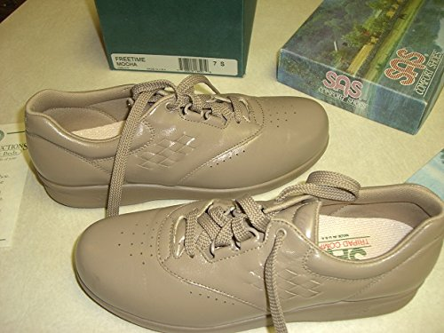 New in Box SAS Freetime Comfort Shoes Mocha 7 S w// Extra Shoestrings