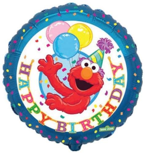 "Sesame Street Elmo Happy Birthday 18"" Foil Balloon"