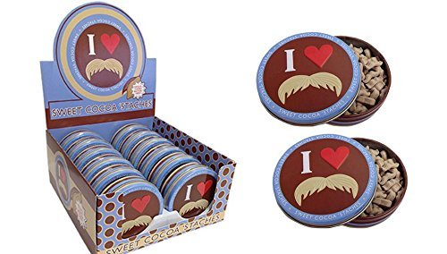 (Sweet Coco Staches Moustache Mints Stach Tin x 2 by Boston)