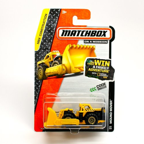 MOUND MOVER (YELLOW) * 2014 MBX CONSTRUCTION * Matchbox 1:64 Scale Basic Die-Cast Vehicle (#107 of 120) - Mbx Mover