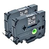 Greencycle 2 PK White on Black Label Tape Compatible For Brother TZ 325 TZe 325 P-Touch PT1000 PT1160