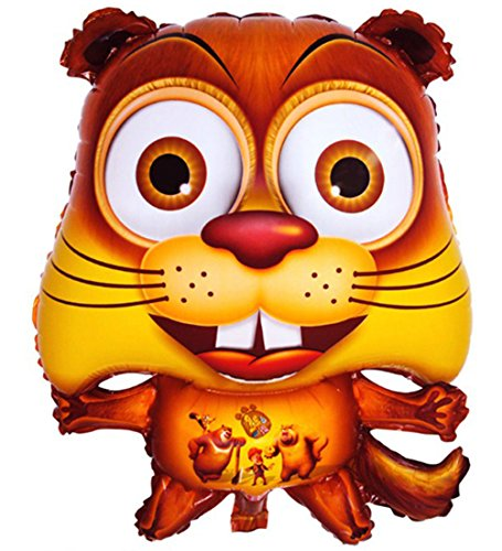 Squirrel Doll Stuffed Animals Figure Soft Anime Inflatable Balloon Toy]()
