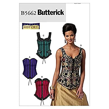 Butterick Schnittmuster 5662 – Historische Korsetts: Amazon.de ...