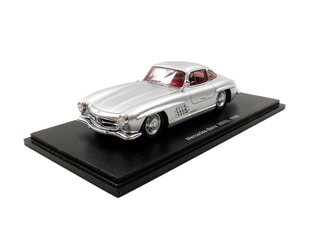 Spark - Mercedes Benz 300 SL 1956 Model Vehicle, s4958, Silver Scale 1/43