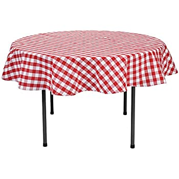 Amazing VEEYOO 70 Inch (178 Cm) Round 100% Cotton Plaid Tablecloth Gingham For Home