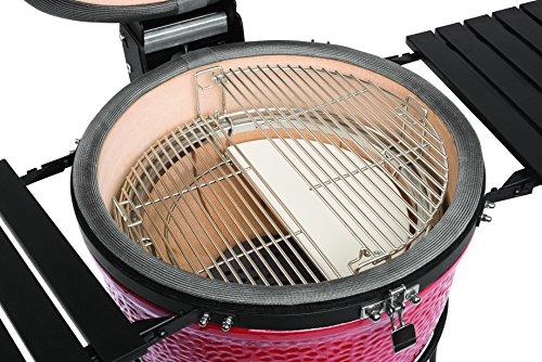 Kamado Joe KJ23RHC Classic II, Charcoal Grill,Blaze Red