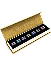 Her Jewellery Women's 7 Days Dangling Earrings Set (Gold Box) - Embellished With Crystals From Swarovski®