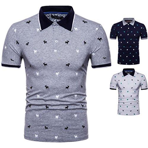 Travail Courtes Sport Loisir Manches Acmede De Décontracté Bleu Chemise Imprimé Homme T Col Polo Marine shirt fHHxvOwWUP