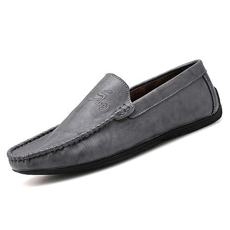 Hongjun-shoes, Mocasines de Hombre, Ropa Casual con Suelas de Cuero Suave Mocasines