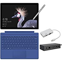 2017 New Surface Pro Bundle ( 5 Items): Core i7 16GB 512GB Tablet, Surface Dock, Surface Type Cover Blue (2016), Surface Pen Silver, Mini DisplayPort Adaptor