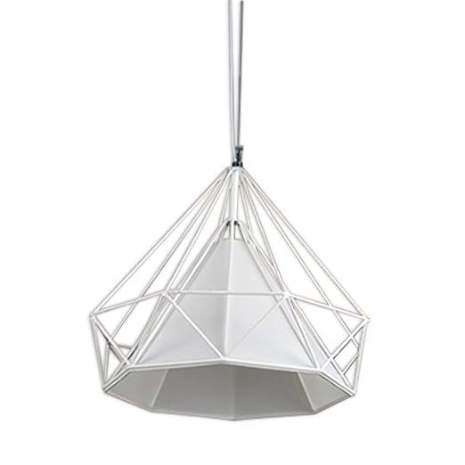 LEDHOLYT 25 cm Retro Metal colgante luz lámpara de jaula para ...