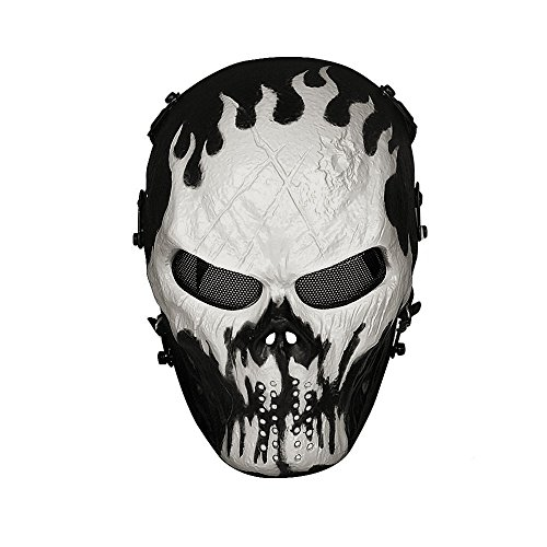 OutdoorMaster Airsoft Mask - Full Face Mask with Mesh Eye Protection (will-o'-the-wisp)
