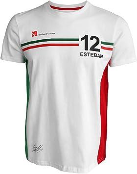 Sauber F1 Esteban 11 - Camiseta de Manga Corta, Color Blanco, Hombre, Blanco, XX-Large: Amazon.es: Deportes y aire libre