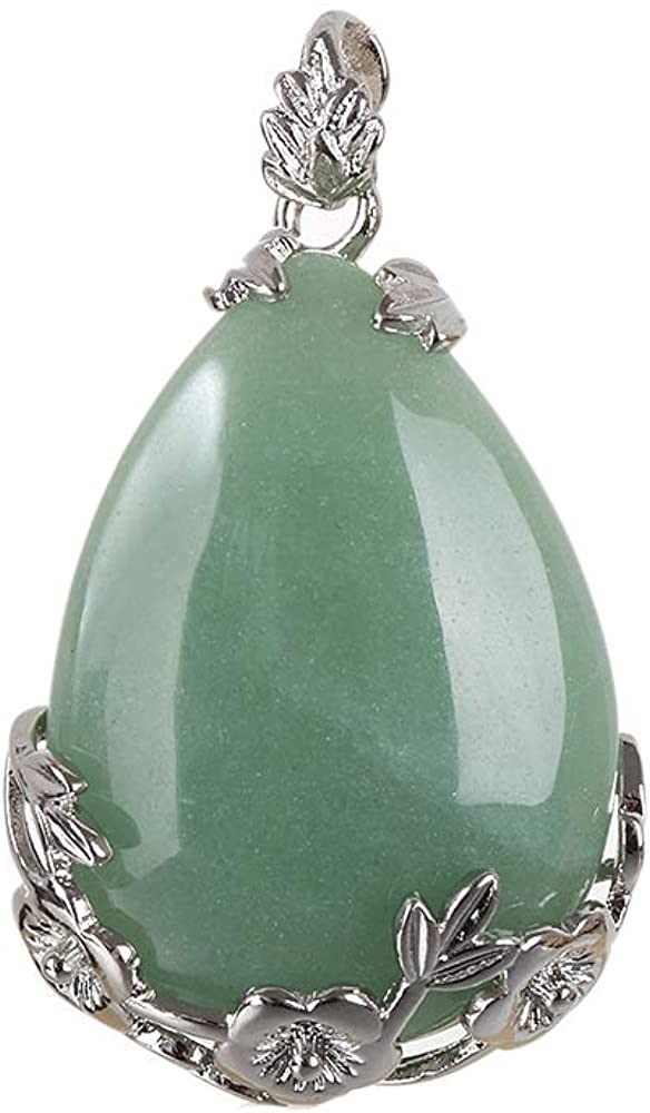 1 PC de Cuarzo Natural del Cristal de Piedra con Incrustaciones de joyería de la Vendimia curación Flor Opal Gota del Agua de los Colgantes del Collar