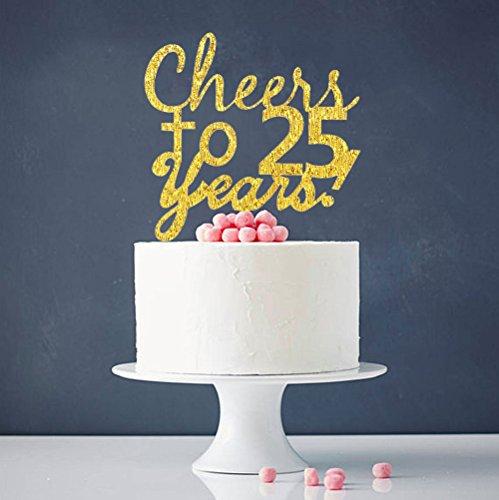 INNORU® Cheers to 25 Years Cake Topper - 25th Birthday ,Anniversary Cake Bunting Party Decoration (25 Anniversary Cakes)