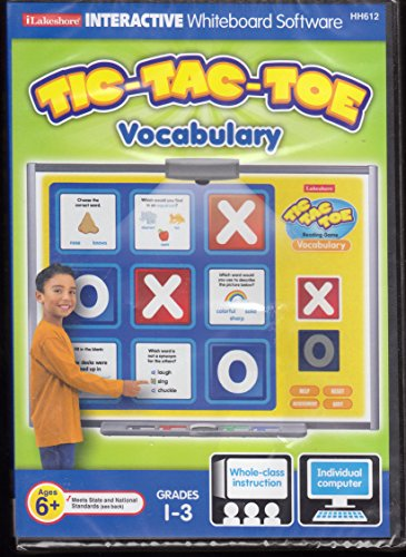 Software Whiteboard (Tic Tac Toe Vocabulary Game - Interractive Whiteboard Software - Grades 1-3)