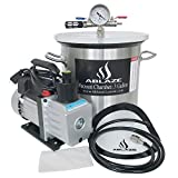 vacuum purge kit - ABLAZE 3 Gallon Stainless Steel Vacuum Degassing Chamber and 3 CFM Single Stage Pump Kit