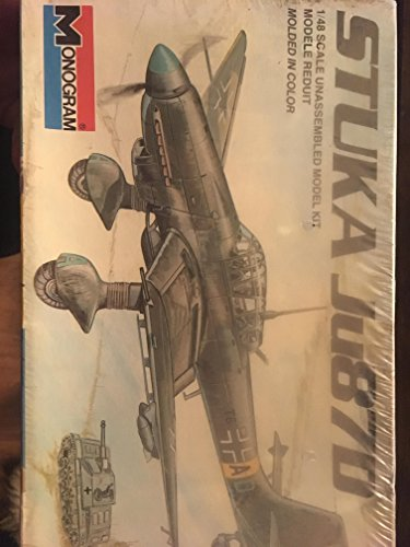 Used, Monogram Stuka Ju87D 1/48 Model Kit for sale  Delivered anywhere in USA