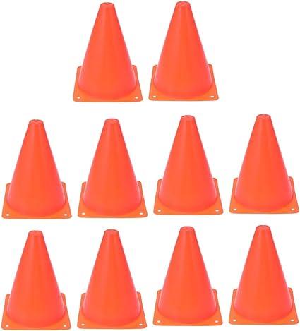 BESPORTBLE 24PCS 18CM Football Training Roadblocks Cone Shaped Mini Traffic Roadblocks Plastic Soccer Training Auxiliary Tools Orange