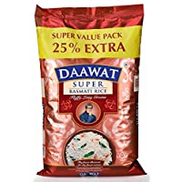 Daawat Super Basmati, 5kg with Free 25 Percent Extra