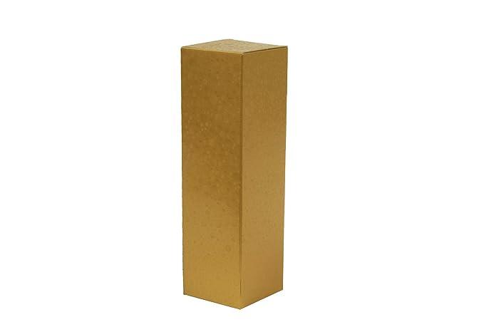 Set de 50 Cajas de cartón para botellas (Oro, 1 botella ...