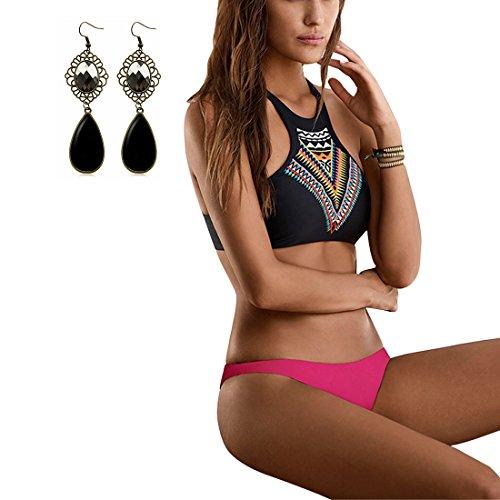 6e0028d6d513d Sitengle Damen Bikini Sets Multicolour Push up Paisley Sexy Bademode  Badeanzüge Bathing Suit Ethnischen Tauchanzug Hot Bikini 2016 Neu:  Amazon.de: ...