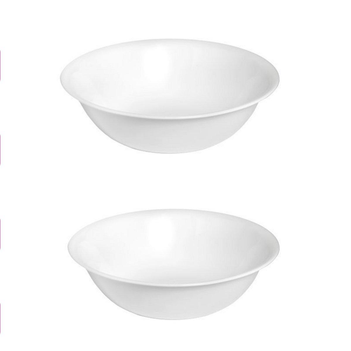 Corelle Livingware 2-Quart Serving Bowl, Winter Frost White 2PK