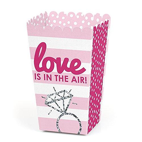 Bride-to-Be - Bridal Shower & Classy Bachelorette Party Favor Popcorn Treat Boxes - Set of ()