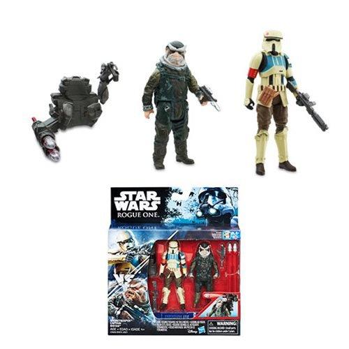 Star Wars Rogue One Shoretrooper and Bistan Action Figures
