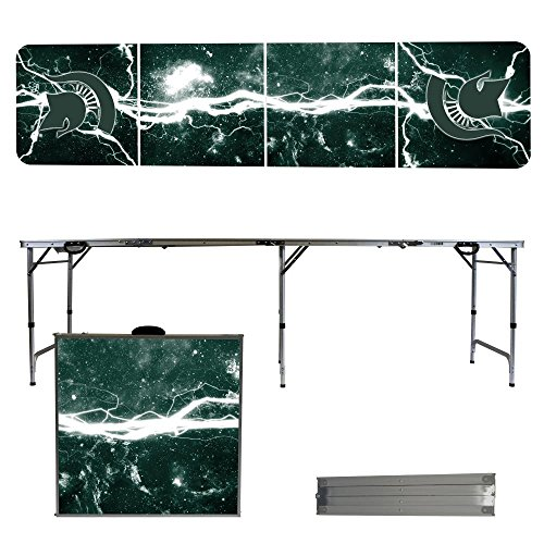 NCAA Michigan State University Spartans Lightning Version 8-Feet Folding Tailgate Table by Victory Tailgate