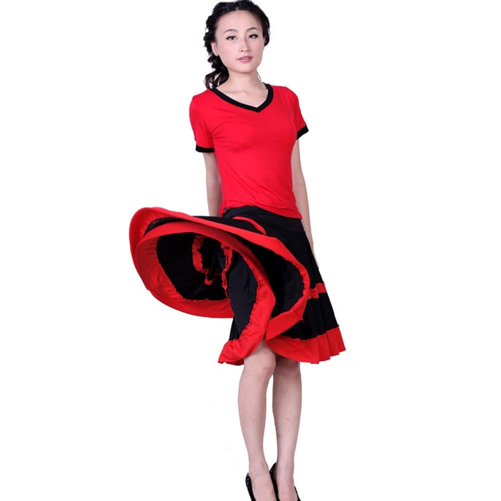 Wgwioo Latin Square Dance Kleid Frauen Yoga Pompry Pompry Pompry Ballroom Kostüm Big Pendel Rock Praxis Match Professionelle Leistung B071RP4JDC Bekleidung Am wirtschaftlichsten 250d75