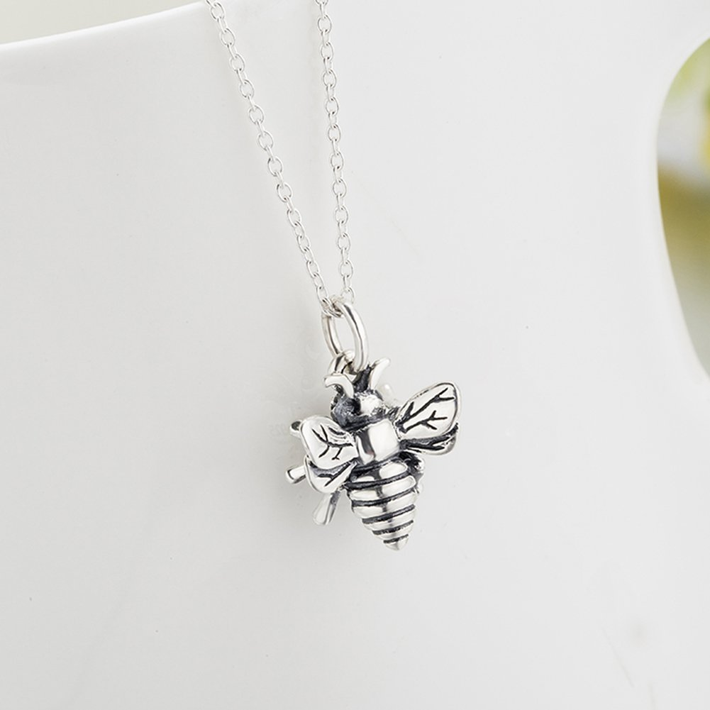Amazon yfn bee necklace sterling silver bumble bee queen bee amazon yfn bee necklace sterling silver bumble bee queen bee bumblebee charm pendant necklace jewelry aloadofball Images