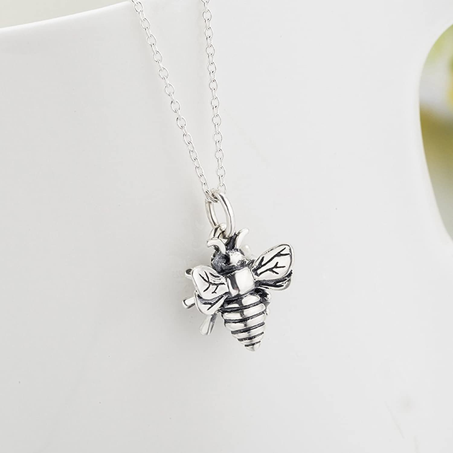 Amazon yfn bee necklace sterling silver bumble bee queen bee amazon yfn bee necklace sterling silver bumble bee queen bee bumblebee charm pendant necklace jewelry aloadofball Image collections