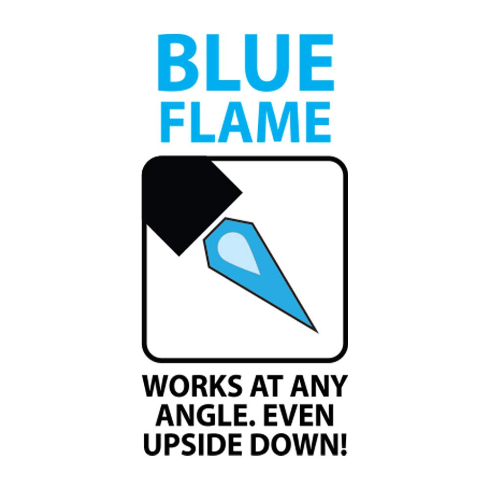 Built for Life Big Bubba Refillable Blue Flame Dual Turbo Torch Green Skull