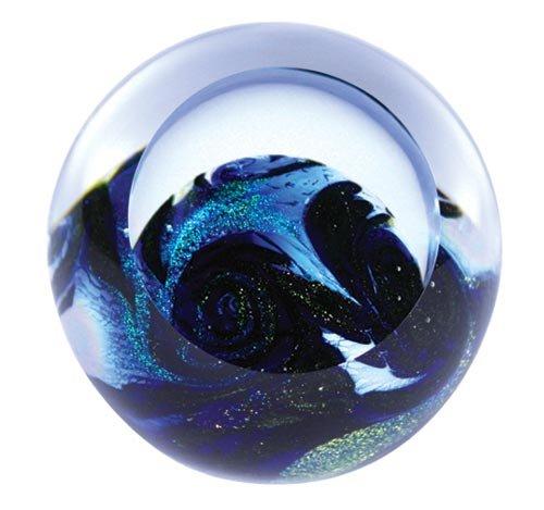 Glass Eye Studio Blue Planet Blown Glass Paperweight (Planet Paperweight)