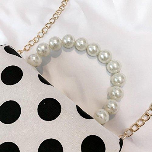 Bandoulière Femme Main Cover Mode Casual Jiangfu Imprimé Sac Dot De Blanc Cabas Pearl Sacs Messager Femmes À w46fqfdnxI