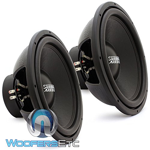 PAIR OF E-15 V.3 D4 - Sundown Audio 15'' 500W RMS Dual 4-Ohm EV.3 Series Subwoofer by Sundown Audio