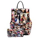 Magazine Cover Collage Backpack & Wallet- obama(Multi)