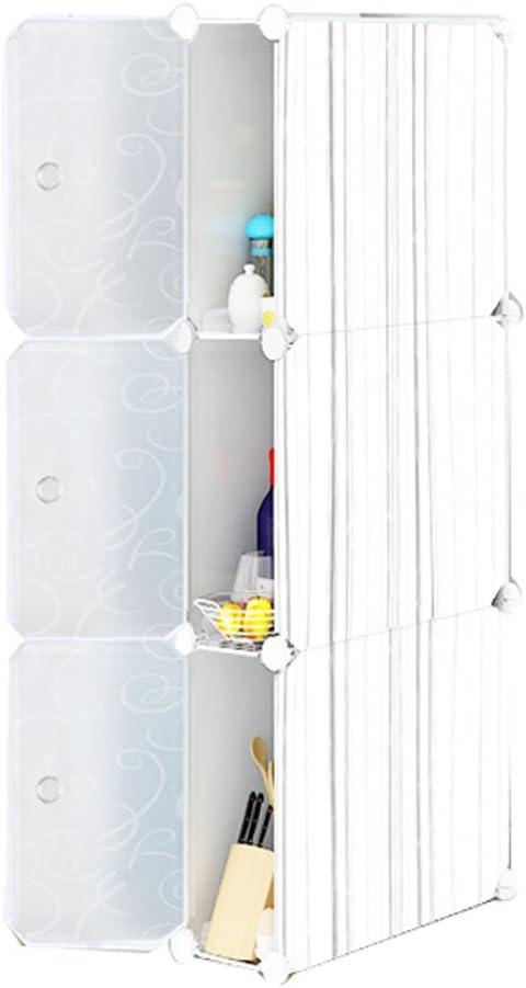 Baiyun 3719111 cm - Estante de Almacenamiento para Flyin (3 estantes, 19 cm de Ancho, armarios Estrechos de plástico, extraíble con Puerta de Interruptor): Amazon.es: Hogar