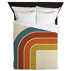 CafePress Retro Curve Queen Duvet Cover, Printed Comforter Cover, Unique Bedding, Microfiber