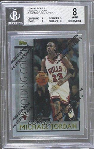 Michael Jordan Bgs Graded 8  Basketball Card  1996 97 Topps   Holding Court  Hc2