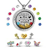 A Touch of Dazzle Mother Daughter Necklace Grandma Gifts | Mom Necklace Mom Jewelry Floating Locket...