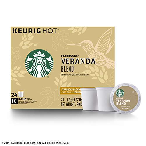 Starbucks Veranda Merge Blonde Light Roast Single Cup Coffee for Keurig Brewers, 4 Boxes of 24 (96 Total K-Cup pods)