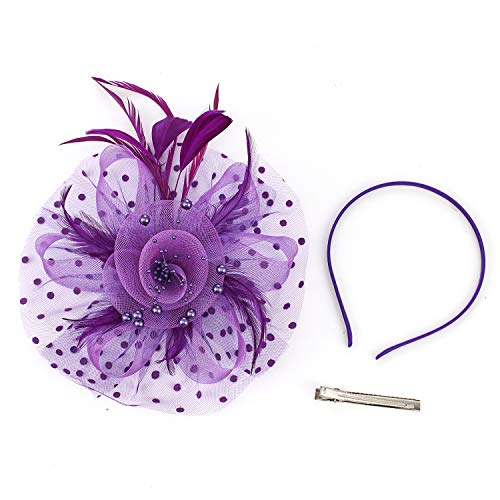 Fascinators for Women Kentucky Derby Wedding Cocktail Headwear Tea Party Hat and Hair Clip